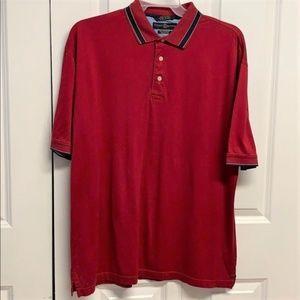 Tommy Hilfiger Golf Polo Shirt Size L Dark Red